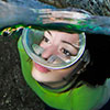 In the Fosub competition the model is the centre of interest in the underwater wideangle with model category in  this shoot Silvia Boccato, that is costantly searching technical innovation, creats an underwater portrait in half-half underwater photography  emphasizing the picture frame of the wonderfull water of Tuscany Islands